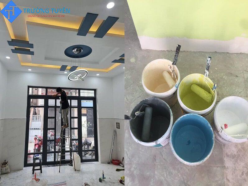 Hình ảnh Lắp Cửa Sơn Tường Khi Sửa Chữa Nhà ở Gò Vấp