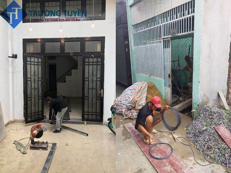 Thi Công Phần Sắt Cho Căn Nhà Tại Tân Phú